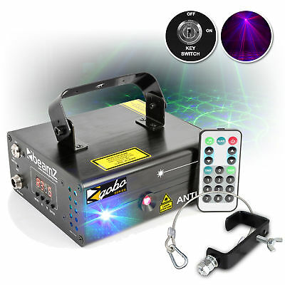 Beamz Anthe II 600mW DMX Red Green Blue Gobo DJ Laser w/ G Clamp & Safety Cable