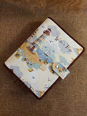 A5 Binder planner lighthouse cover with 6 ring binder notebook handmade