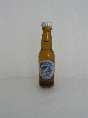 POLAR IMPORTED BEER  Miniature 3 inch Glass Bottle - made in Argentina