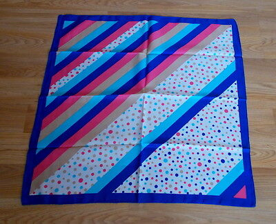 """Vintage Made in Italy Polyester Scarf Multicolor Design 27"""" x 27"""""""