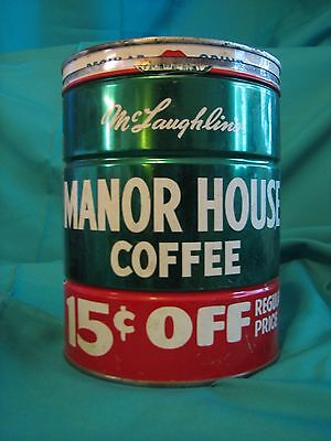 VINTAGE McLAUGHLIN'S MANOR HOUSE COFFEE 2 POUND CAN