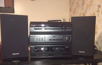 Panasonic Compact Audio system with speakers