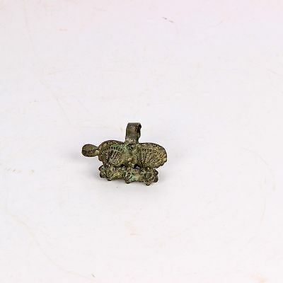 1800's Antique Beautiful Finger Ring Made Up Of Brass Old Rich Patina 1788