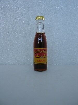ROYAL CROWN COLA Miniature 3 inch Glass Bottle - New Old Stock