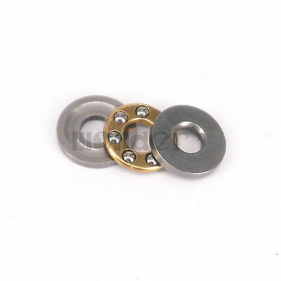 (1)3x8x3.5mm Miniature Axial Ball Flat Washers Thrust Bearings 3-Parts ABEC-1