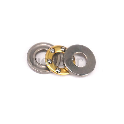 (1)4x9x4mm Miniature Axial Ball Flat Washers Thrust Bearings 3-Parts ABEC-1