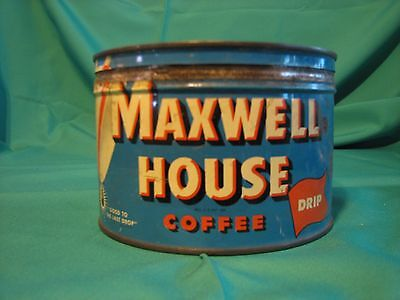 Vintage Maxwell House 1 Pound Coffee Can