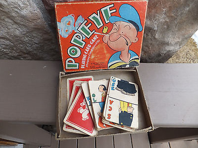 Antique King Features POPEYE  1937 Playing Card Game Whitman Publishing Company