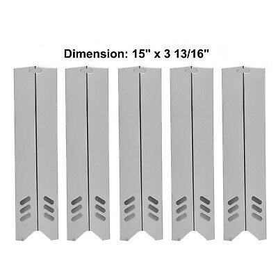 SH591(5-pack) SS Heat Plate Replacement for Select Uniflame Gas Grill models