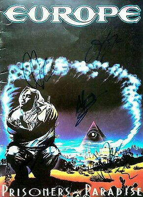 Europe All Members Prisoners In Paradise Tour Program 91 Hand Signed Autographed