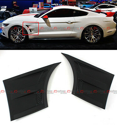 For 2015-17 Ford Mustang 3D Style Front Fender Side Panel Door Side Scoops Vents