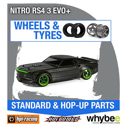 HPI NITRO RS4 3 EVO+ [Wheels & Tyres] Genuine HPi 1/10 R/C Scale!
