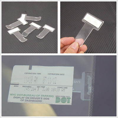 2PCS Car Vehicle Windscreen Windshield Parking Ticket Permit Holder Clip Sticker