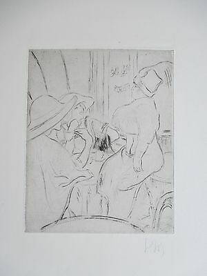 LOUIS LEGRAND ETCHING 44x31cm HANDSIGNED