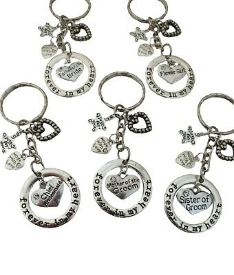 Forever In My Heart Keyring Wedding Favour Thank You Love Gift Huge Choice