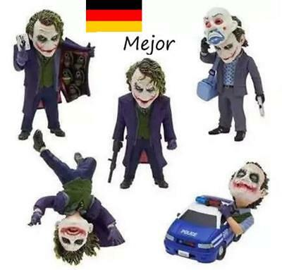5pcs Set The Dark Knight Rises The Joker Action Small Pendant Figures FigurenNeu