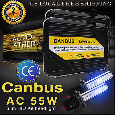 AC 55W CANBUS No Flicker Error Free Xenon Hid Kit 9005 9006 H1 H3 H4 H7 H9  H11