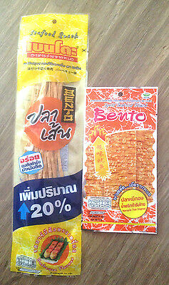 Bento Thai Fish Snack Spicy Bar-B-Q & Get Free! Bento Squid Seafood Snack