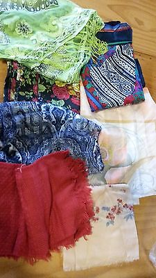 bulk lot of 8 scarves