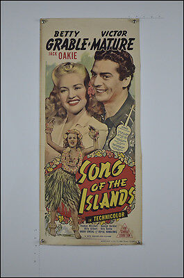 Song of the Islands (1942) Australian Daybill Movie Poster