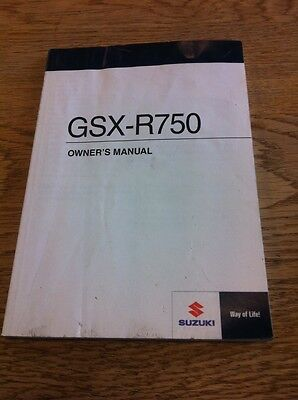 Suzuki Gsx-r750 L1 2011 Owners Manual