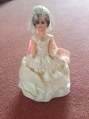 Vintage half doll pin cushion