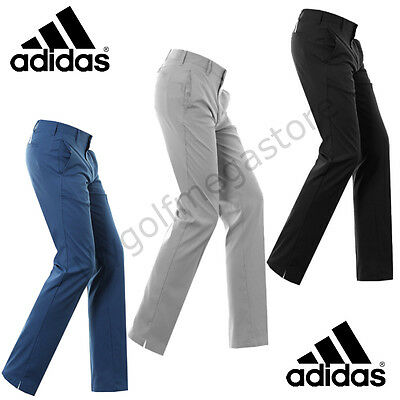 Adidas Golf 2017 Ultimate 3-Stripe Men's Golf Trousers - Tapered Leg - New.