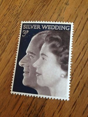 The Queen and Prince Philip Silver Wedding Stamp