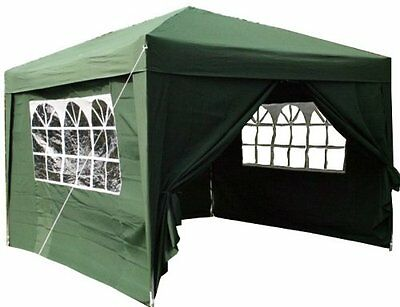 Gazebo Tent Shelter 3x3mtr Green Pop Up Waterproof WindBar And Rope Included