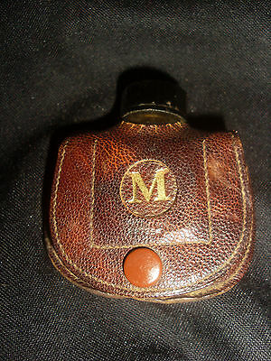 Antique Elayne Smelling Salts Bottle w/ Label & Leather Pouch