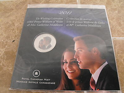 Canada 2011 William & Kate Royal Wedding 25 Cent - Royal Canadian Mint