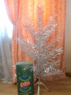 "Vintage Russian aluminium christmas tree 47"" 4 FT with box"