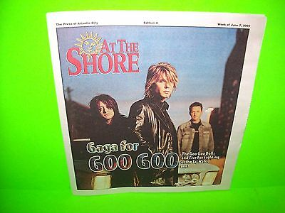 Goo Goo Dolls On Cover Of At The Shore Magazine 2002 Full Issue See Photos