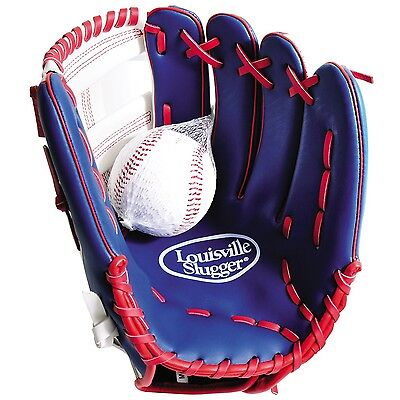 Louisville Slugger Kids Glove and Ball Set - Red 12 inch