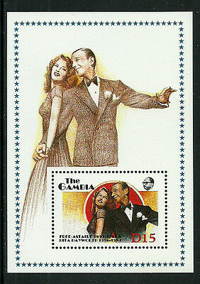 Gambia 777 Mint Never Hinged S/Sheet - Fred Astaire and Rita Hayworth