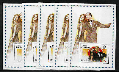 Gambia 777 Mint Never Hinged S/Sheet - Astaire and Hayworth - Wholesale