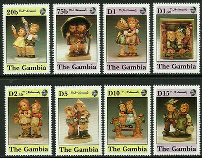 Gambia 1132-9 Mint Never Hinged Set - Hummel Figurines