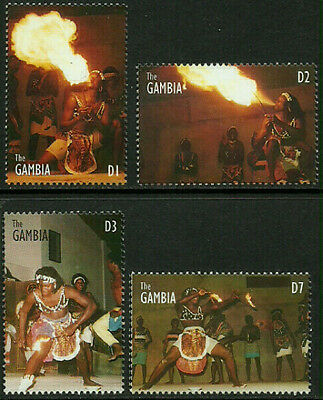 Gambia 1725-8 Mint Never Hinged Set - Fire Dancers