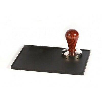 New Barista Black Thick Large Professional Tamping Mat Countertop Tamper Pad