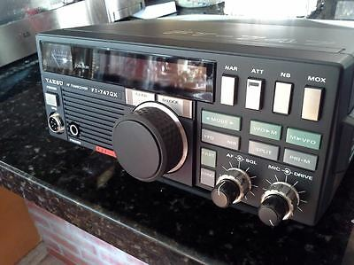 Ham Radio Transceiver Yaesu FT747 GX, Mic. DC Cable. With 11 meters. MINT