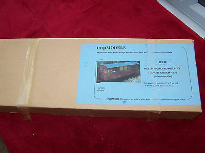 MODEL RAILWAY 32mm GAUGE STEAM IMP MODELS KIT WELSH HIGHLAND UNUSED