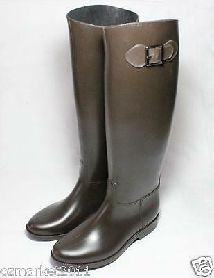 Knight Equestrian Supplies Brown Riding Horsemanship Rubber Boots