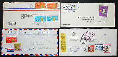 Ecuador Postage Airmail Set of 4 Covers Letters Envelopes Lupo R-Briefe (H-8594+