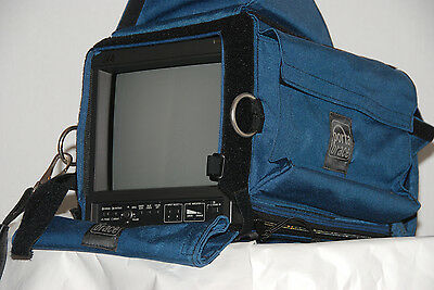 JVC TM 1011 broadcast monitor NEVER USED with portabrace cover