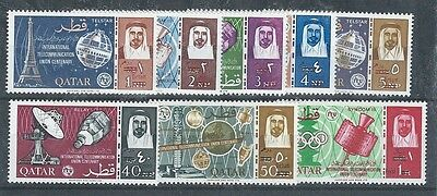 Middle East Qatar SPACE Gemini revalued mnh stamp set of 8