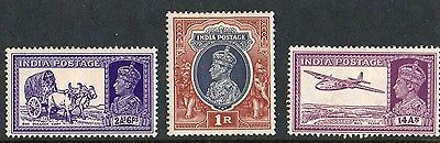 India - King George VI - Stamps Selection X 3 1937/1940