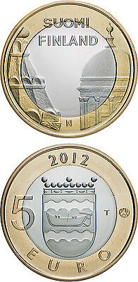 5 euro finland 2012  buildings all 9 coins