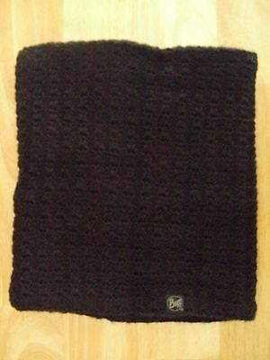 Knitted Buff  Neck Tube, Black