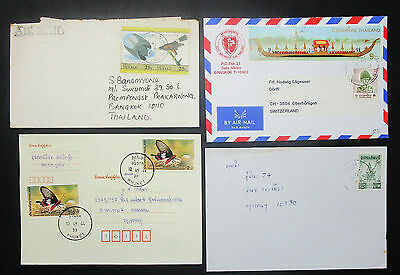 Thailand Set of 4 Covers Envelopes Missionswerk Schweiz Lupo Briefe (H-8607