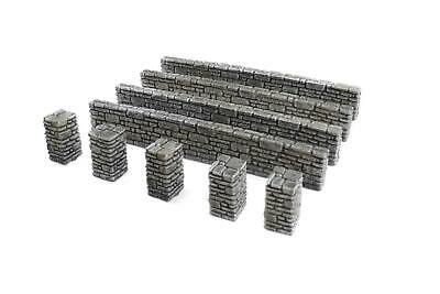 WWG 28mm World War 2, WWII, Stone Wall and Pillars Pack R13
